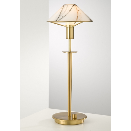 Holtkoetter Lighting Holtkoetter Modern Table Lamp with White Glass in Antique Brass Finish 6514 AB MRB