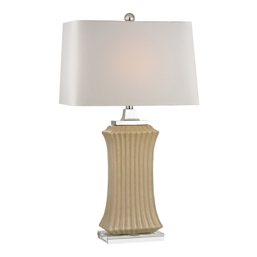 Dimond Lighting LED Table Lamp with Beige / Cream Shades in Cream Crackle Finish D2451-LED