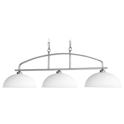 Quorum Lighting Quorum Lighting Reyes Classic Nickel Island Light 6660-3-64