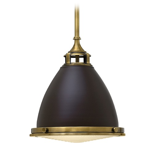 Hinkley Lighting Hinkley Lighting Amelia Buckeye Bronze Mini-Pendant Light with Bowl / Dome Shade 3126KZ