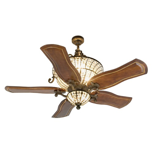Craftmade Lighting Craftmade Lighting Cortana Peruvian Bronze Ceiling Fan with Light K10663