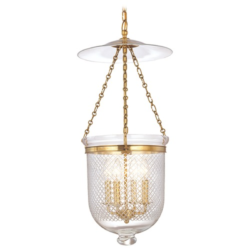 Hudson Valley Lighting Hudson Valley Lighting Hampton Aged Brass Pendant Light with Bowl / Dome Shade 255-AGB-C2