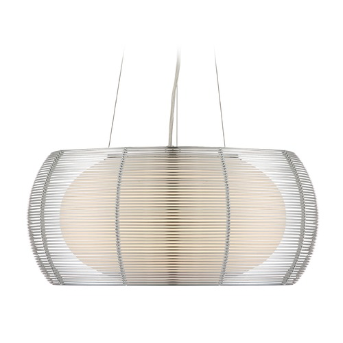 Lite Source Lighting Lite Source Chrome Pendant Light with Oblong Shade LS-18767