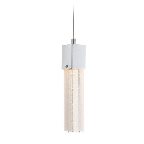 Lite Source Lighting Lite Source Totie Chrome LED Mini-Pendant Light with Rectangle Shade LS-19037