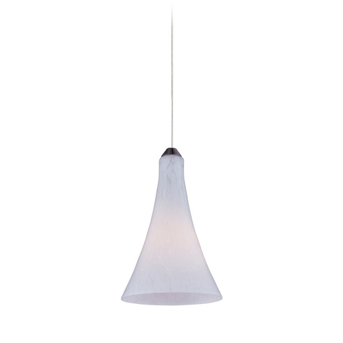 ET2 Lighting Modern Low Voltage Mini-Pendant Light with White Glass E94432-105SN