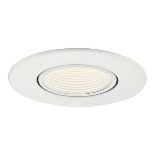 Recesso Lighting by Dolan Designs GU10 Adjustable Recessed Trim with White Baffle for 3.5-Inch Recessed Cans T353W-WH
