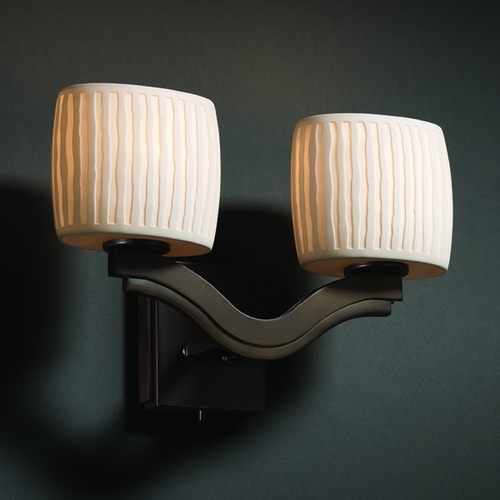 Justice Design Group Justice Design Group Limoges Collection Sconce POR-8975-30-WFAL-DBRZ