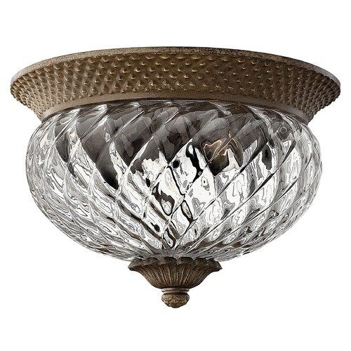 Hinkley Lighting Flushmount Light with Clear Glass in Pearl Bronze Finish 4102PZ