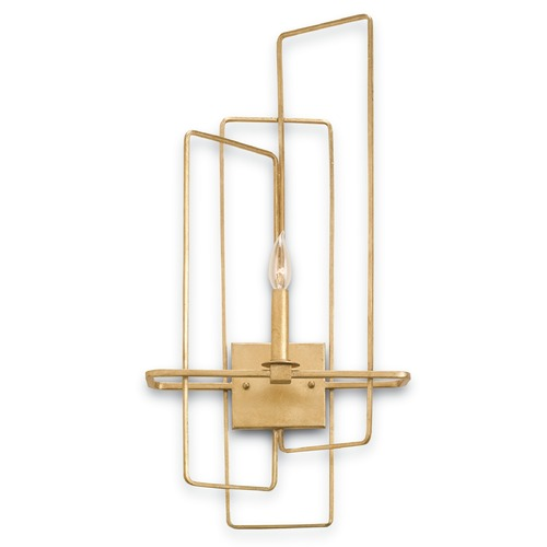 Currey and Company Lighting Currey and Company Lighting Metro Gold Leaf Sconce 5163