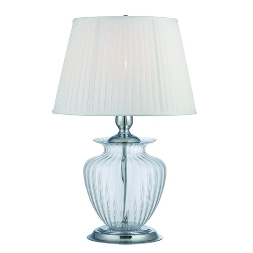 Lite Source Lighting Lite Source Tyson Chrome / Clear Table Lamp with Empire Shade LS-22468CLR