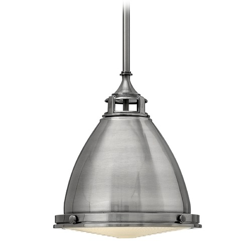 Hinkley Lighting Hinkley Lighting Amelia Polished Antique Nickel Mini-Pendant Light with Bowl / Dome Shade 3126PL