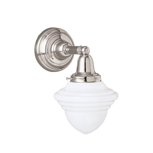 Norwell Lighting Norwell Lighting Bradford Polished Nickel Sconce 8201-PN-AC
