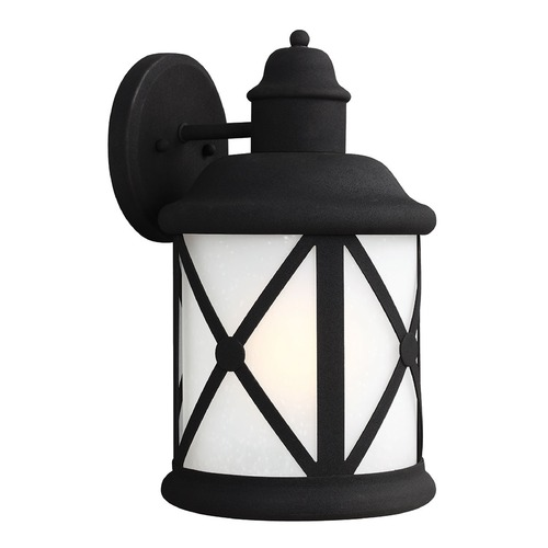 Sea Gull Lighting Sea Gull Lighting Lakeview Black Outdoor Wall Light 8721401BLE-12
