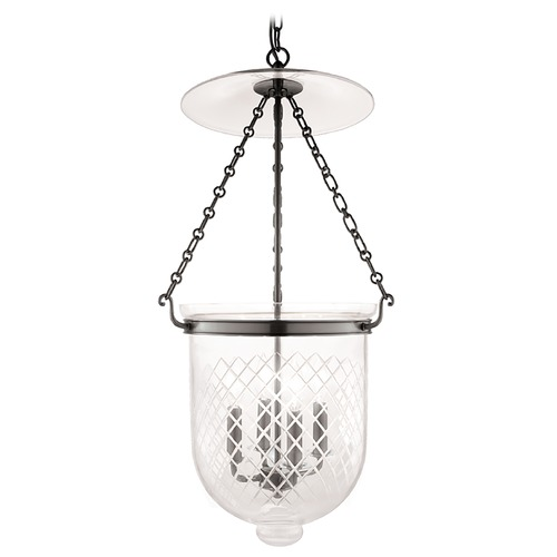 Hudson Valley Lighting Hudson Valley Lighting Hampton Historic Nickel Pendant Light with Bowl / Dome Shade 255-HN-C2