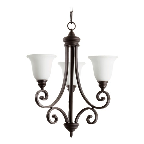Quorum Lighting Quorum Lighting Bryant Oiled Bronze Mini-Chandelier 6154-3-186