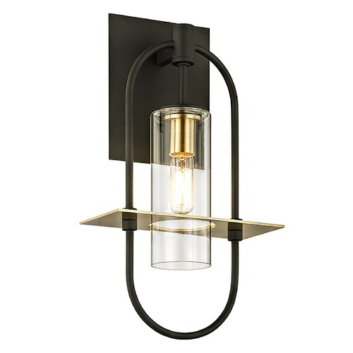 Troy Lighting Troy Lighting Smyth Dark Bronze and Brushed Brass Outdoor Wall Light B6391