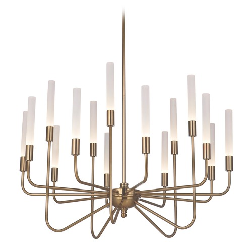 Craftmade Lighting Satin Brass LED Chandelier 3000K 25500LM 49615-SB-LED