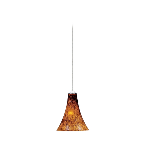 ET2 Lighting Modern Low Voltage Mini-Pendant Light with Amber Glass E94433-104SN
