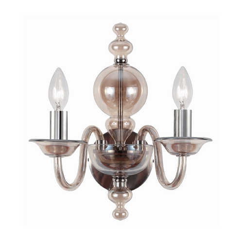 Crystorama Lighting Sconce Wall Light in Polished Chrome Finish 9842-CH-CG