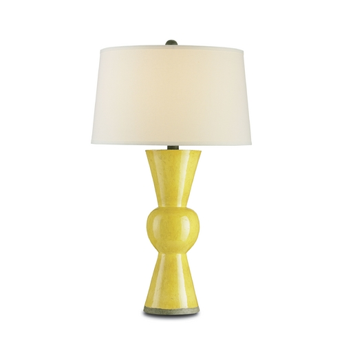Currey and Company Lighting Mid-Century Modern Table Lamp Yellow Upbeat by Currey and Company Lighting 6382