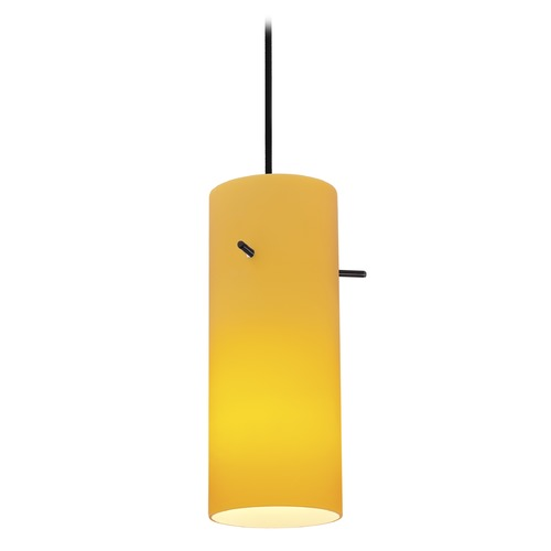 Access Lighting Access Lighting Sydney Cylinder Oil Rubbed Bronze Mini-Pendant with Cylindrical Shade 28030-1C-ORB/AMB