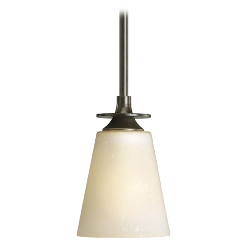 Progress Lighting Progress Mini-Pendant Light with Beige / Cream Glass P5139-77