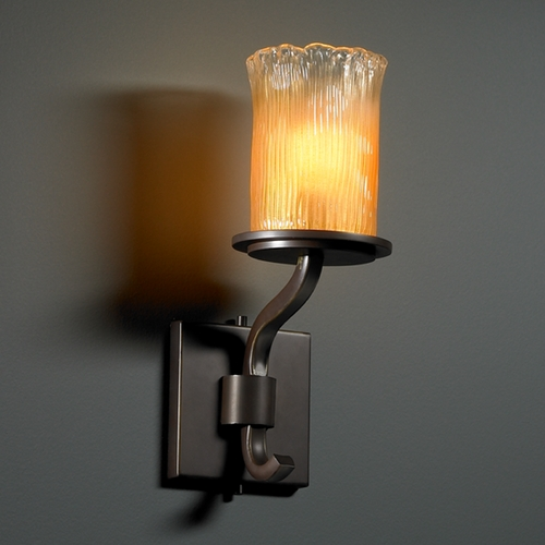 Justice Design Group Justice Design Group Veneto Luce Collection Sconce GLA-8781-16-GLDC-DBRZ