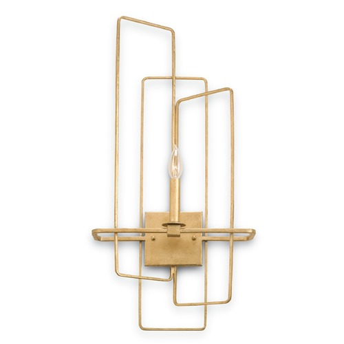 Currey and Company Lighting Currey and Company Lighting Metro Gold Leaf Sconce 5164