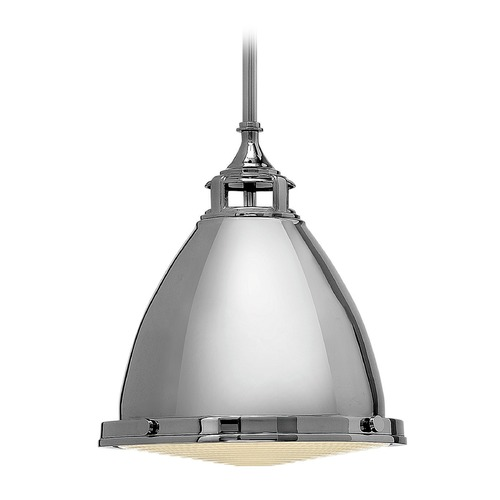 Hinkley Lighting Hinkley Lighting Amelia Polished Nickel Mini-Pendant Light with Bowl / Dome Shade 3126PN