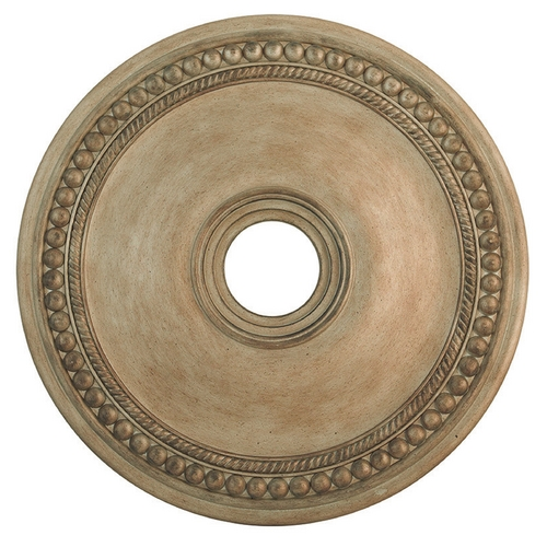 Livex Lighting Livex Lighting Wingate Hand Painted Antique Silver Leaf Ceiling Medallion 82075-73
