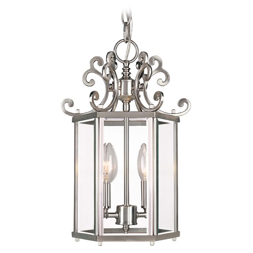 Savoy House Savoy House Pewter Mini-Pendant Light with Hexagon Shade KP-3-500-2-69