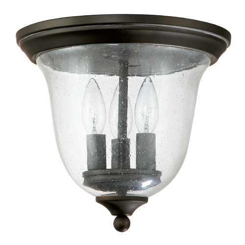 Capital Lighting Seeded Glass Close To Ceiling Light Bronze Capital Lighting 9541OB