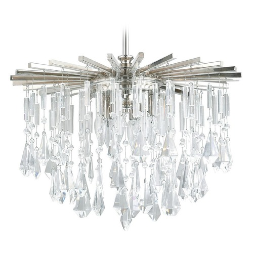 Capital Lighting Capital Lighting Carrington Polished Nickel Pendant Light 7023PN-CR