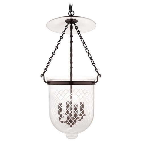 Hudson Valley Lighting Hudson Valley Lighting Hampton Old Bronze Pendant Light with Bowl / Dome Shade 255-OB-C2