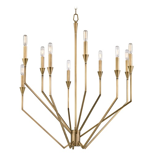 Hudson Valley Lighting Hudson Valley Lighting Archie Aged Brass Chandelier 8510-AGB