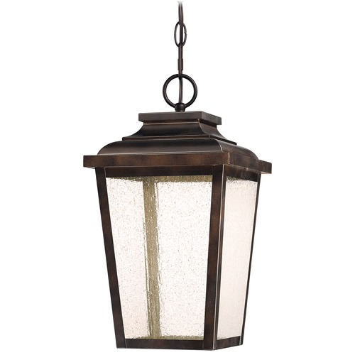 Minka Lavery Seeded Glass LED Outdoor Hanging Light Bronze Minka Lavery 72174-189-L