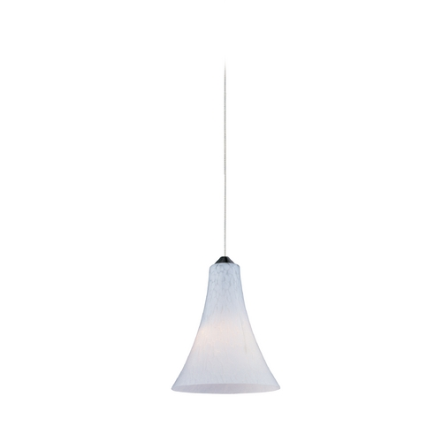 ET2 Lighting Modern Low Voltage Mini-Pendant Light with White Glass E94434-105SN