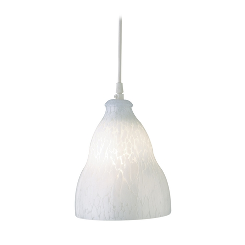 PLC Lighting Modern Mini-Pendant Light with White Glass 3000 WH/ WH