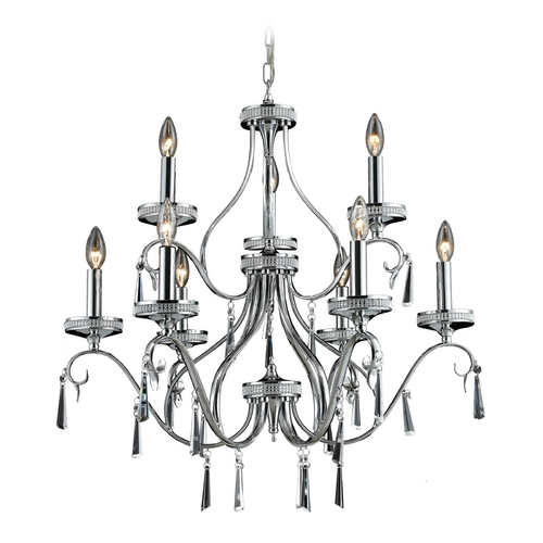 Elk Lighting Crystal Chandelier in Chrome Finish 82056/6+3