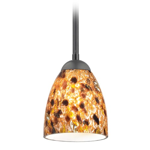 Design Classics Lighting Design Classics Gala Fuse Matte Black LED Mini-Pendant Light with Bell Shade 681-07 GL1005MB