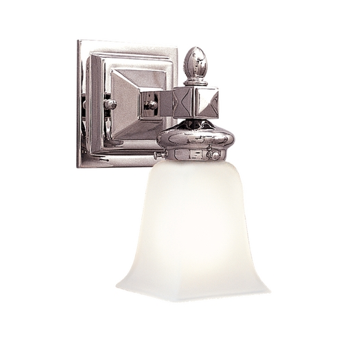 Hudson Valley Lighting Sconce with White Glass in Polished Nickel Finish 2821-PN