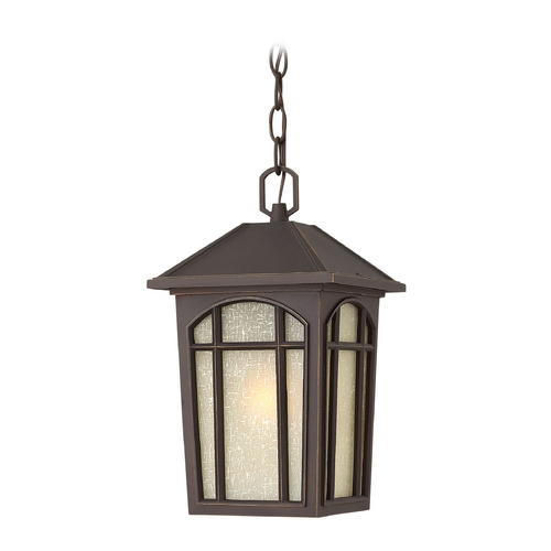 Hinkley Lighting Outdoor Hanging Light with White Glass in Oil Rubbed Bronze Finish 1982OZ-GU24