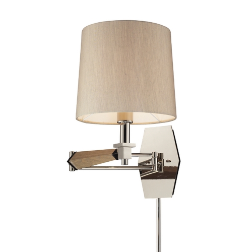 Elk Lighting Modern Swing Arm Lamp in Polished Nickel Finish 31332/1
