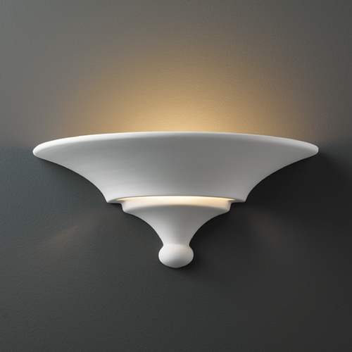 Justice Design Group Sconce Wall Light in Bisque Finish CER-3900-BIS