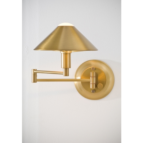 Holtkoetter Lighting Holtkoetter Modern Swing Arm Lamp in Antique Brass Finish 9416 AB
