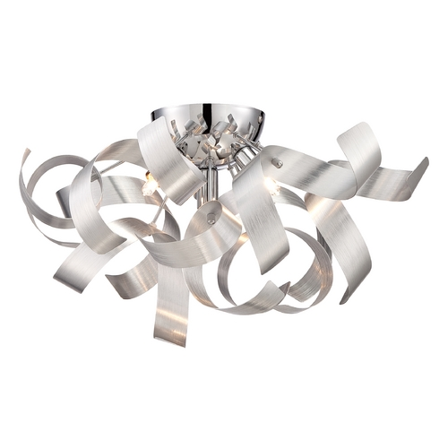 Quoizel Lighting Mid-Century Modern Flushmount Cluster Light Millenia Ribbons by Quoizel Lighting RBN1616MN