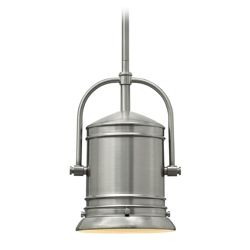 Hinkley Lighting Hinkley Lighting Pullman Brushed Nickel Mini-Pendant Light with Cylindrical Shade 3254BN