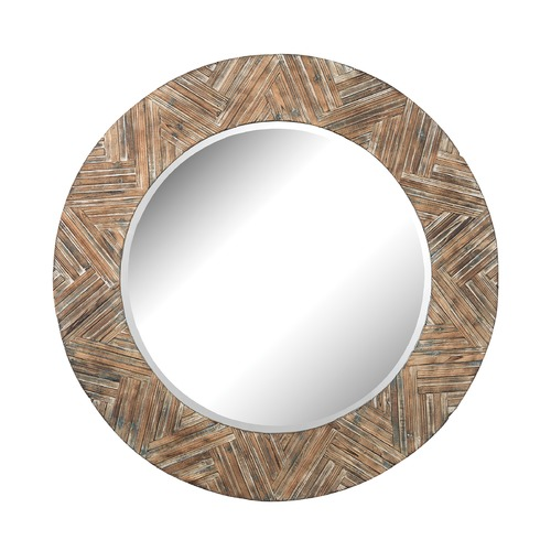 Elk Lighting Large Round Wicker Mirror 51-10162