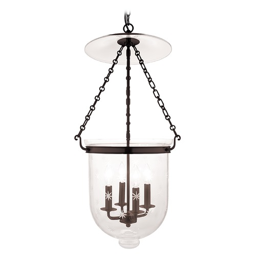 Hudson Valley Lighting Hudson Valley Lighting Hampton Old Bronze Pendant Light with Bowl / Dome Shade 255-OB-C3