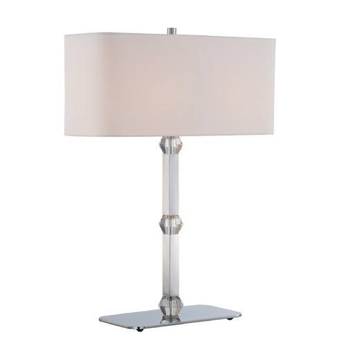 Lite Source Lighting Lite Source Cairo Chrome Table Lamp with Rectangle Shade LS-22628